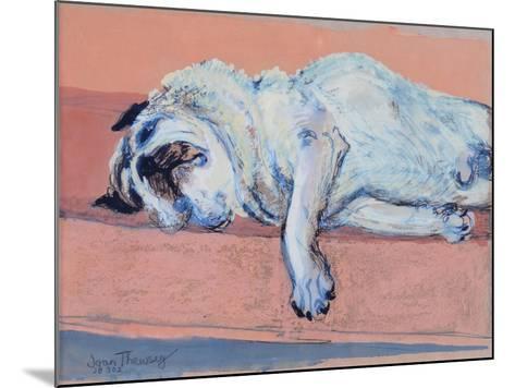 Sleeping Pug Two, 2000-Joan Thewsey-Mounted Giclee Print