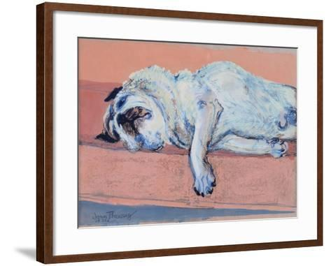 Sleeping Pug Two, 2000-Joan Thewsey-Framed Art Print