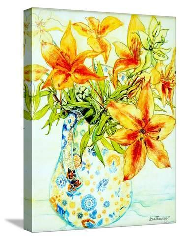 Orange Lilies in a Japanese Vase, 2000-Joan Thewsey-Stretched Canvas Print
