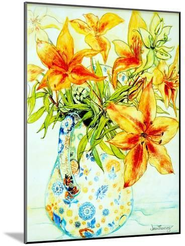 Orange Lilies in a Japanese Vase, 2000-Joan Thewsey-Mounted Giclee Print