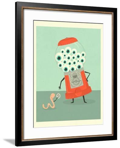Eye Candy-Jazzberry Blue-Framed Art Print