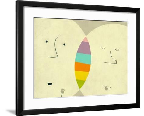 Connections-Jazzberry Blue-Framed Art Print