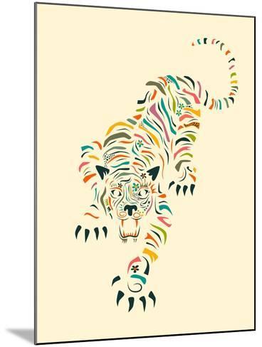 Tiger-Jazzberry Blue-Mounted Art Print