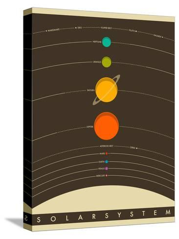 Solar System-Jazzberry Blue-Stretched Canvas Print