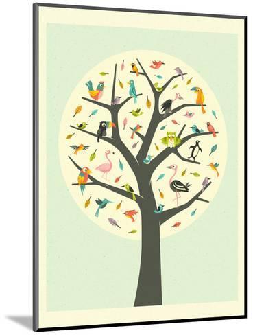 Tree of Life-Jazzberry Blue-Mounted Art Print