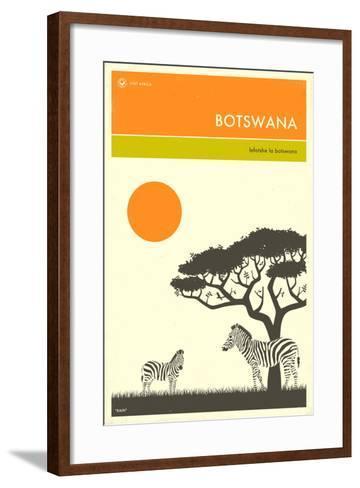 Visit Botswana-Jazzberry Blue-Framed Art Print