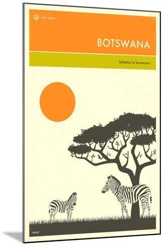 Visit Botswana-Jazzberry Blue-Mounted Art Print