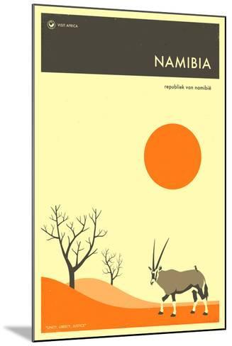 Visit Namibia-Jazzberry Blue-Mounted Art Print
