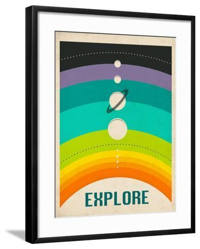 Solar System-Jazzberry Blue-Framed Art Print