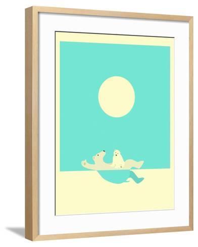 Swimming Lessons-Jazzberry Blue-Framed Art Print