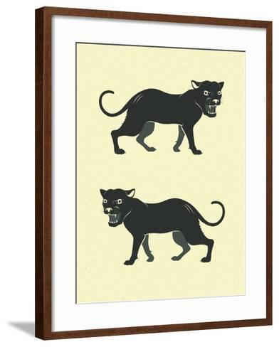 Panthers-Jazzberry Blue-Framed Art Print