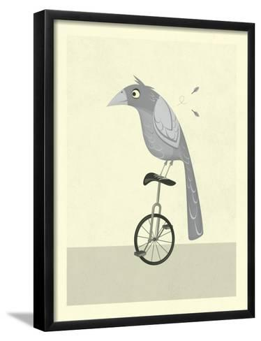 Lazy Bird-Jazzberry Blue-Framed Art Print
