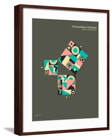 Pythagorean Theorem: A Proof by Rearrangement-Jazzberry Blue-Framed Art Print