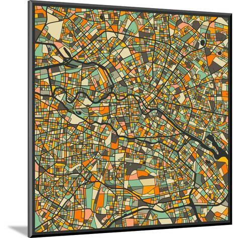Berlin Map-Jazzberry Blue-Mounted Art Print