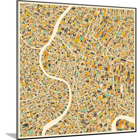 Bangkok Map-Jazzberry Blue-Mounted Art Print