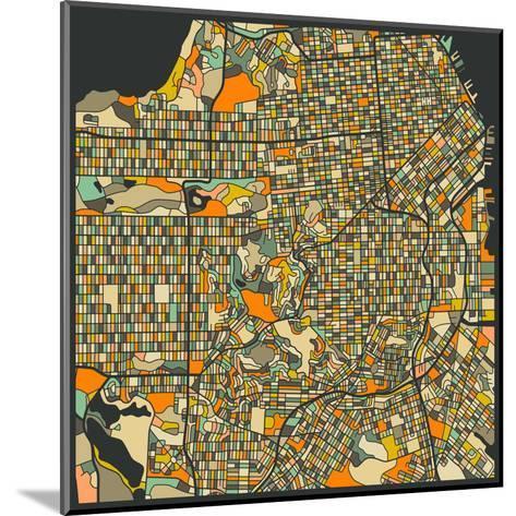 San Francisco Map-Jazzberry Blue-Mounted Art Print