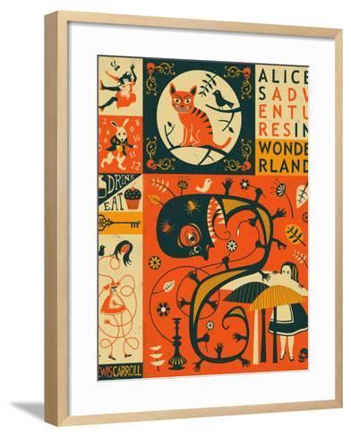 Alice in Wonderland-Jazzberry Blue-Framed Art Print