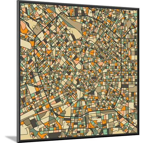 Milan Map-Jazzberry Blue-Mounted Art Print