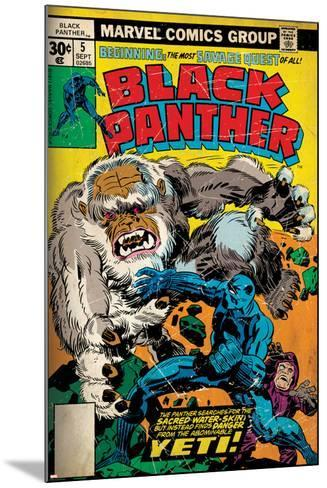 Marvel Comics Retro Style Guide: Black Panther--Mounted Art Print