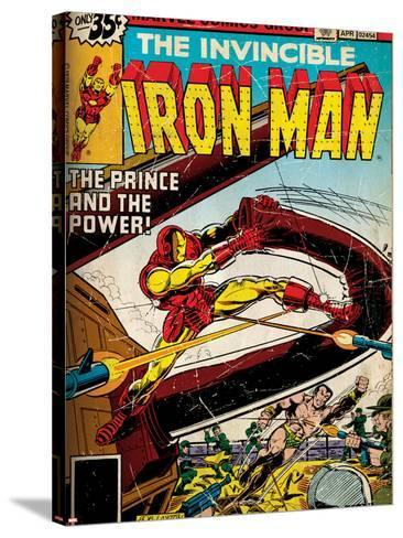 Marvel Comics Retro Style Guide: Iron Man, Namor--Stretched Canvas Print