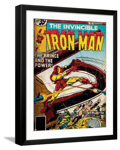 Marvel Comics Retro Style Guide: Iron Man, Namor--Framed Art Print