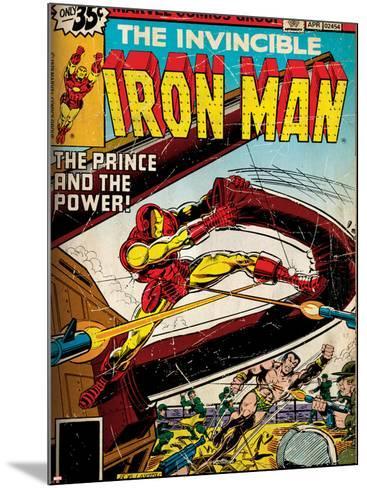 Marvel Comics Retro Style Guide: Iron Man, Namor--Mounted Art Print