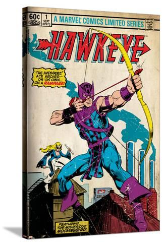 Marvel Comics Retro Style Guide: Hawkeye--Stretched Canvas Print