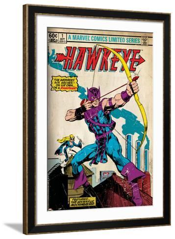 Marvel Comics Retro Style Guide: Hawkeye--Framed Art Print