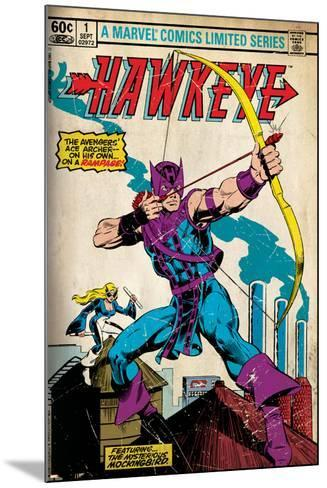 Marvel Comics Retro Style Guide: Hawkeye--Mounted Art Print