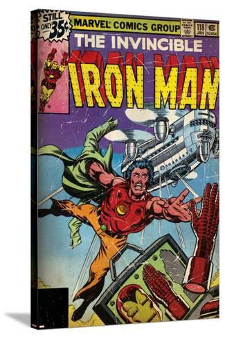 Marvel Comics Retro Style Guide: Iron Man--Stretched Canvas Print