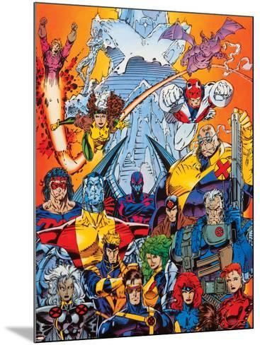 X-Men Forever Alpha No. 1: Cyclops, Storm, Grey, Jean, Summers, Rachel, Havok, Polaris, Cable--Mounted Art Print