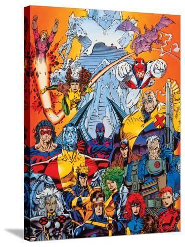 X-Men Forever Alpha No. 1: Cyclops, Storm, Grey, Jean, Summers, Rachel, Havok, Polaris, Cable--Stretched Canvas Print
