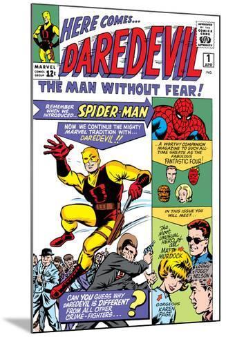 Daredevil No.1 Cover: Daredevil-Joe Quesada-Mounted Art Print