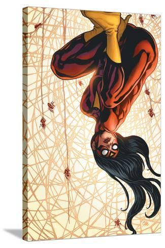 The New Avengers No.15 Cover: Spider Woman-Frank Cho-Stretched Canvas Print