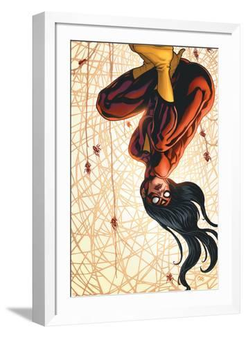 The New Avengers No.15 Cover: Spider Woman-Frank Cho-Framed Art Print