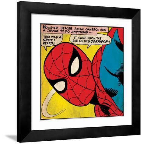 Marvel Comics Retro Style Guide: Spider-Man--Framed Art Print