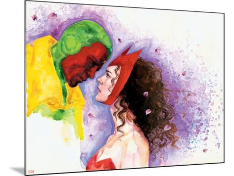 Avengers Finale No.1 Headshot: Vision and Scarlet Witch-David Mack-Mounted Art Print