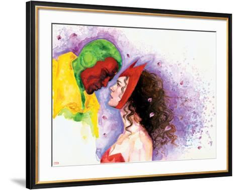 Avengers Finale No.1 Headshot: Vision and Scarlet Witch-David Mack-Framed Art Print