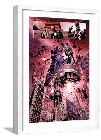 New Avengers No. 4: Galactus, Mr. Fantastic, Iron Man, Black Panther, Black Bolt--Framed Art Print
