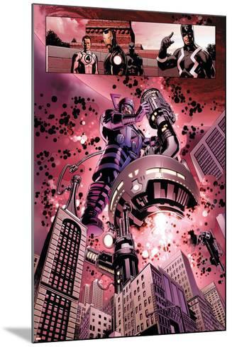 New Avengers No. 4: Galactus, Mr. Fantastic, Iron Man, Black Panther, Black Bolt--Mounted Art Print