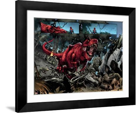 Avenging Spider-Man No. 14: Devil Dinosaur, Moon Boy--Framed Art Print