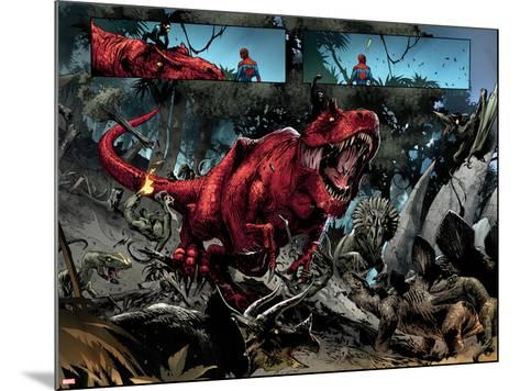 Avenging Spider-Man No. 14: Devil Dinosaur, Moon Boy--Mounted Art Print