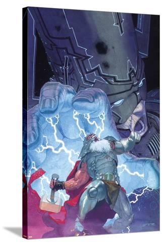 Thor: God of Thunder No. 20: Thor, Galactus--Stretched Canvas Print