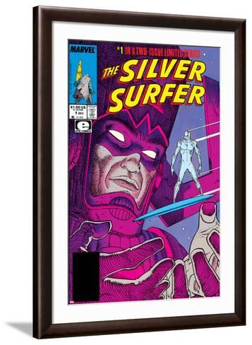 Silver Surfer By Stan Lee and Moebius No. 1: Silver Surfer, Galactus--Framed Art Print