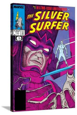 Silver Surfer By Stan Lee and Moebius No. 1: Silver Surfer, Galactus--Stretched Canvas Print