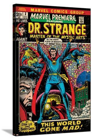 Marvel Comics Retro Style Guide: Dr. Strange--Stretched Canvas Print