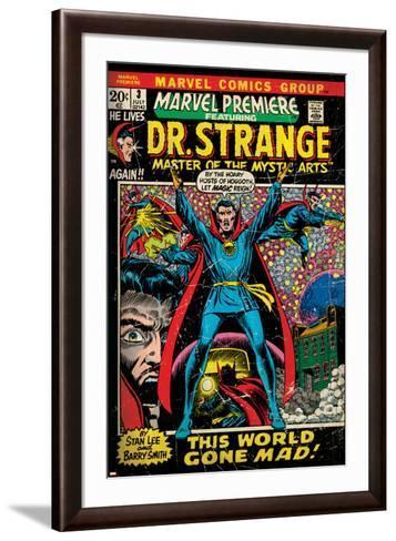 Marvel Comics Retro Style Guide: Dr. Strange--Framed Art Print
