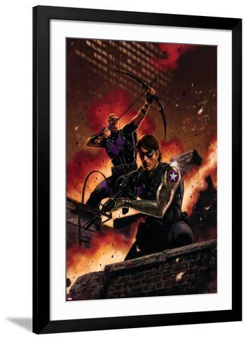 Winter Soldier No. 11: Winter Soldier, Hawkeye--Framed Art Print