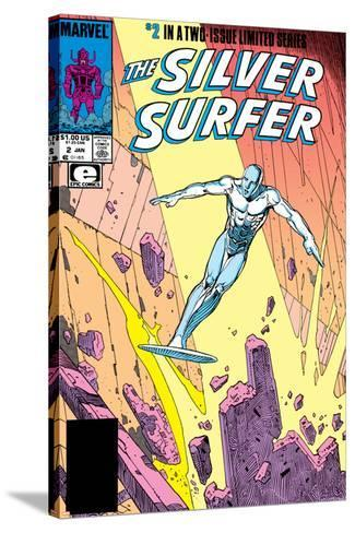 Silver Surfer By Stan Lee and Moebius No. 1: Silver Surfer--Stretched Canvas Print