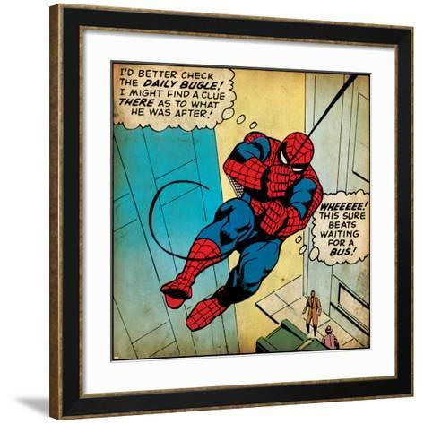 Marvel Comics Retro Style Guide: Spider-Man--Framed Art Print